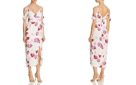 Bardot Cold-Shoulder Floral Faux-Wrap Dress - Bloomingdale's_2