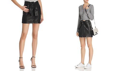 FRAME Waist-Tie Leather Mini Skirt - Bloomingdale's_2