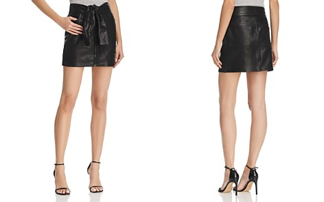 FRAME Waist-Tie Leather Mini Skirt - Bloomingdale's_2