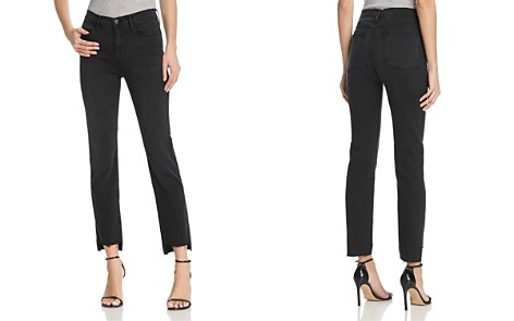FRAME Le High Straight Raw-Edge Stagger Jeans in Mallard - Bloomingdale's_2
