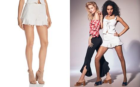 BLANKNYC Ruffle-Hem Denim Shorts in Great White - 100% Exclusive - Bloomingdale's_2