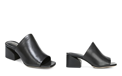 Via Spiga Women's Porter Leather Block Heel Slide Sandals - Bloomingdale's_2