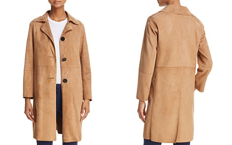 Theory Piazza Suede Coat - Bloomingdale's_2