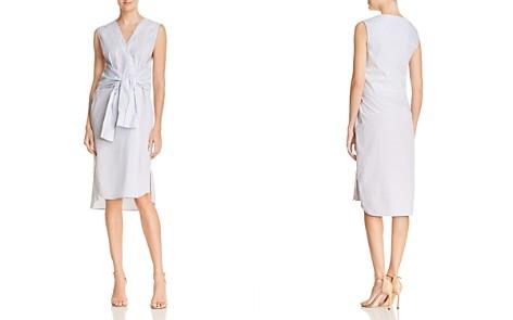 T by Alexander Wang Tie-Waist Striped Shirt Dress - Bloomingdale's_2