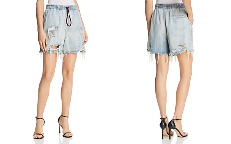 T by Alexander Wang Distressed Denim Shorts - Bloomingdale's_2