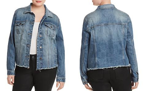 Lucky Brand Plus Frayed-Hem Denim Jacket - Bloomingdale's_2