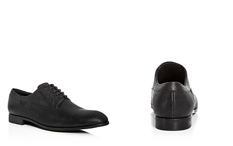Armani Men's Snake Embossed Leather Plain Toe Oxfords - Bloomingdale's_2