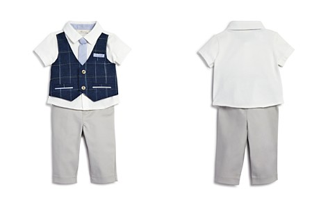 Miniclasix Boys' Plaid-Mock-Vest Shirt with Tie & Pants - Baby - Bloomingdale's_2