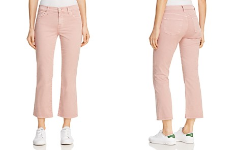 J Brand Selena Mid Rise Crop Boot Jeans in Vinca - Bloomingdale's_2