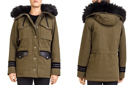 The Kooples Faux-Fur-Trimmed Twill Parka - Bloomingdale's_2