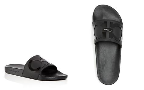 Salvatore Ferragamo Men's Groove 2 Original Double Gancini Slide Sandals - Bloomingdale's_2
