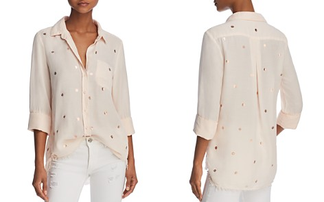 Bella Dahl Metallic-Detail Frayed Hem Shirt - Bloomingdale's_2