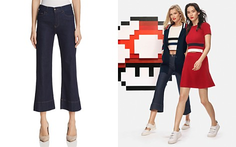 Emporio Armani Cropped Flared Jeans - Bloomingdale's_2