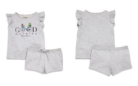 Armani Junior Girls' French Terry Good Morning Top & Shorts Set - Big Kid - Bloomingdale's_2