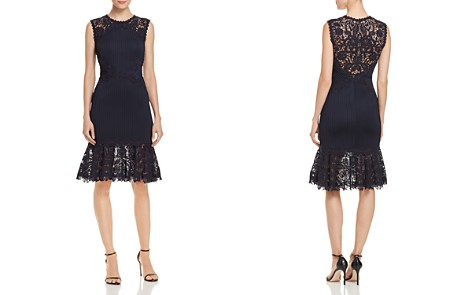 Tadashi Shoji Pintuck-Detail Lace Dress - 100% Exclusive - Bloomingdale's_2