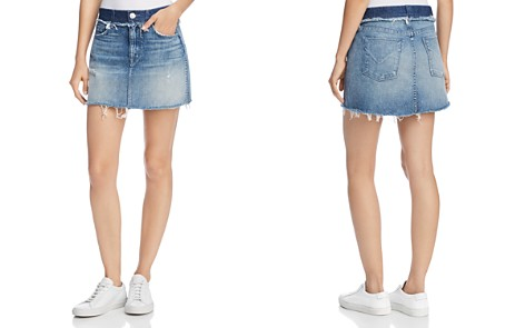 Hudson Custom Vivid Denim Mini Skirt in Rock Steady - Bloomingdale's_2