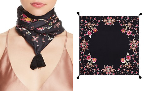 Rebecca Minkoff Mixed Floral Square Silk Scarf - Bloomingdale's_2