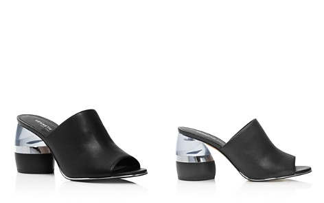 Kenneth Cole Women's Louise Leather & Lucite Heel Mules - 100% Exclusive - Bloomingdale's_2