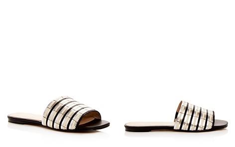 Botkier Women's Marley Leather Stripe Slide Sandals - Bloomingdale's_2