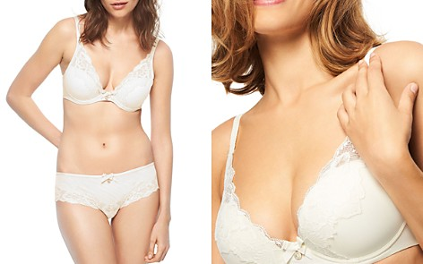 Chantelle Orangerie Lace Plunge Underwire Bra & Hipster - Bloomingdale's_2
