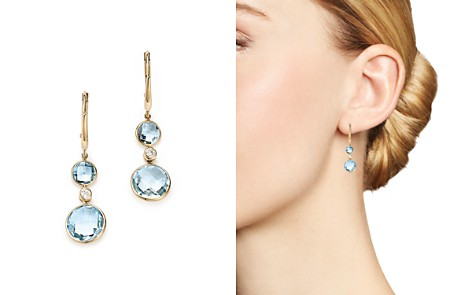 Olivia B 14K Yellow Gold Sky Blue Topaz & Diamond Bezel Drop Earrings - 100% Exclusive - Bloomingdale's_2