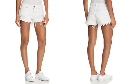 Pistola Gigi Distressed Cutoff Denim Shorts in White Lies - Bloomingdale's_2