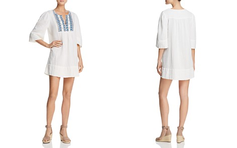Ella Moss Embroidered Cotton Dress - Bloomingdale's_2