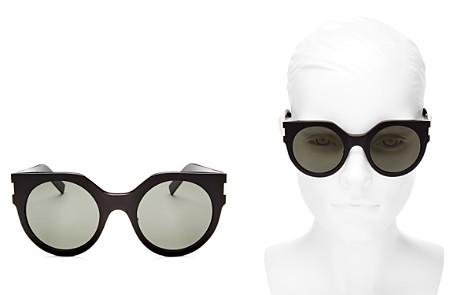 Saint Laurent Women's Slim Feminine Oversized Cat Eye Sunglasses, 50mm - Bloomingdale's_2