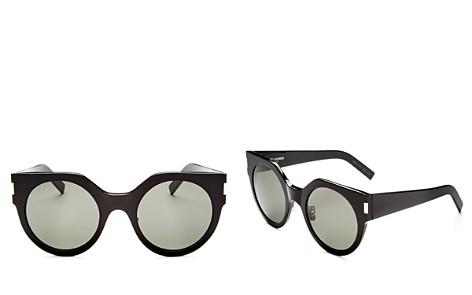 Saint Laurent Slim Feminine Oversized Cat Eye Sunglasses, 50mm - Bloomingdale's_2