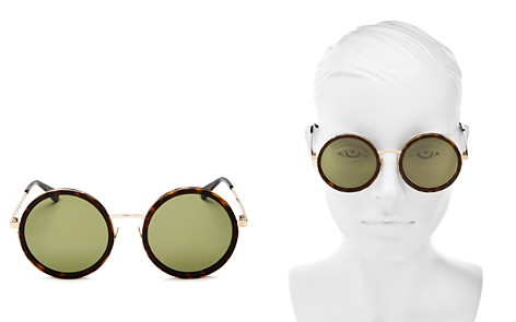 Saint Laurent Oversized Round Sunglasses, 52mm - Bloomingdale's_2