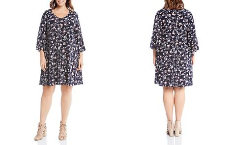 Karen Kane Plus V-Neck Floral Print Dress - Bloomingdale's_2
