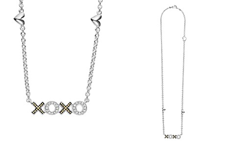 "LAGOS 18K Gold & Sterling Silver Beloved XOXO Diamond Necklace, 16"" - Bloomingdale's_2"