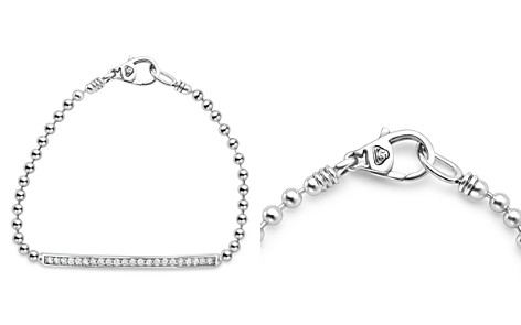 LAGOS Sterling Silver Caviar Spark Diamond Bar Chain Bracelet - Bloomingdale's_2