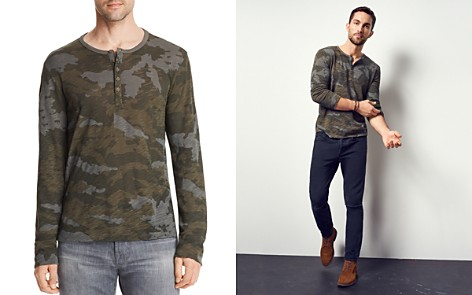 ATM Anthony Thomas Melillo Camouflage Long Sleeve Henley Shirt - 100% Exclusive - Bloomingdale's_2