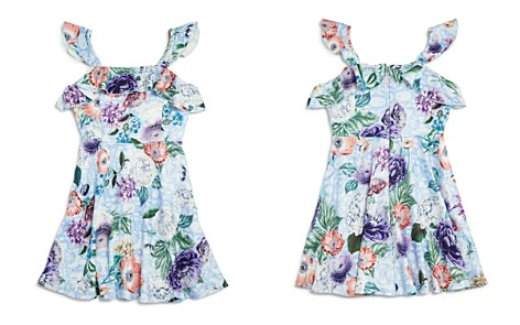 Pippa & Julie Girls' Floral Flutter-Sleeve Dress - Big Kid - Bloomingdale's_2