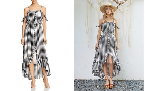 Lost + Wander Day Trip Ruffled Cold-Shoulder Gingham Dress - Bloomingdale's_2