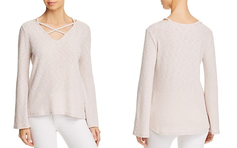 Lost + Wander Cherry Blossom Cross-Strap Flare-Sleeve Sweater - Bloomingdale's_2