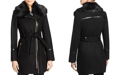 Via Spiga Faux Fur-Collar Asymmetric Belted Coat - Bloomingdale's_2