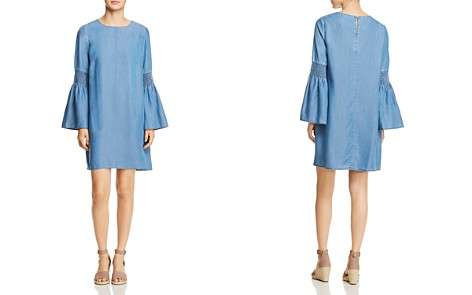 BeachLunchLounge Chambray Bell Sleeve Shift Dress - Bloomingdale's_2