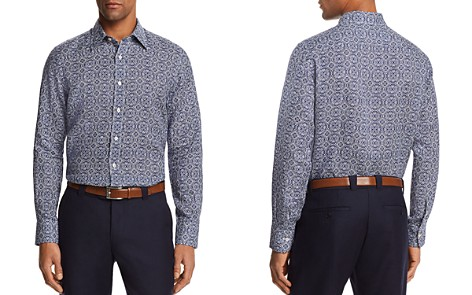 Canali Antique Tile Linen Regular Fit Button-Down Shirt - Bloomingdale's_2