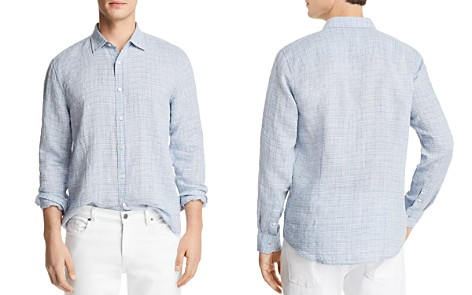 The Men's Store at Bloomingdale's Linen Patterned Long Sleeve Button-Down Shirt - 100% Exclusive_2