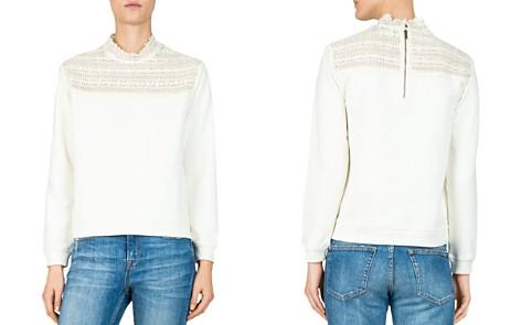 The Kooples Lace-Inset Sweatshirt - Bloomingdale's_2