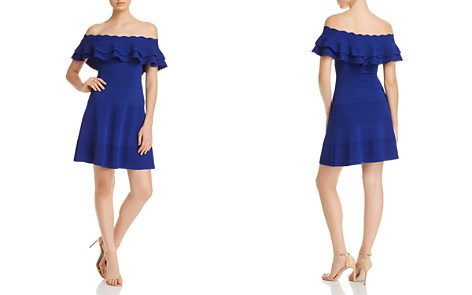 Eliza J Off-the-Shoulder Ruffle Dress - Bloomingdale's_2