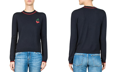 The Kooples Cherry-Embroidered Wool Sweater - Bloomingdale's_2
