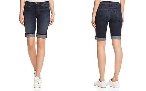 Hudson Amelia Cuffed Denim Shorts in Dhyana - Bloomingdale's_2