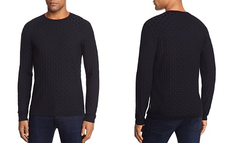 Emporio Armani Large Woven Texture Knit Sweater - Bloomingdale's_2