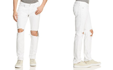 FRAME L'Homme Skinny Fit Jeans in White Out - Bloomingdale's_2