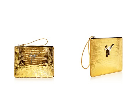 Giuseppe Zanotti Snake Embossed Leather Wristlet - Bloomingdale's_2