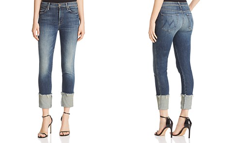 MOTHER Pony Boy Fray Straight-Leg Jeans in Bake Sale Brawl - Bloomingdale's_2