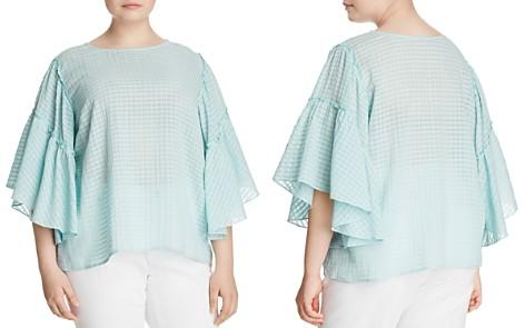 VINCE CAMUTO Plus Grid-Knit Bell-Sleeve Top - Bloomingdale's_2